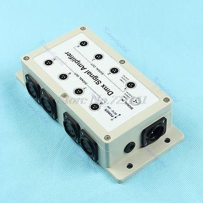 8 Channel Output DMX DMX512 LED Controller Signal Amplifier Splitter Distributor Dropship