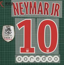 2018-19 NEYMAR JR #10 numer domu zestaw + Ligue 1 mistrz łatka + OOREDOO Paris NEYMAR JR #10 zestaw nazw tanie tanio Przyjazne dla środowiska PRINTED Plastry Do przyprasowania NEYMAR JR 10