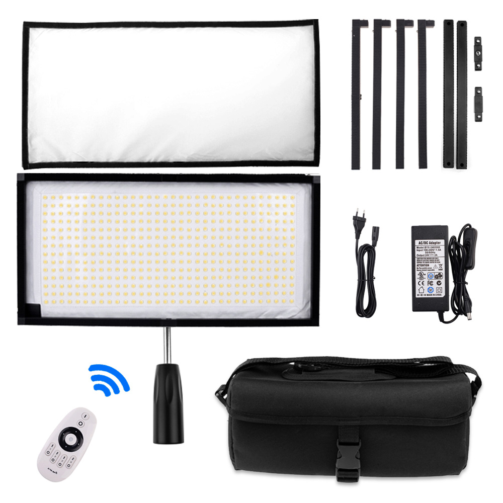 Travor Unique Design Bi-Color FL-3060A Flexible LED Light 448pcs LEDs 3200K 5500K 2.4G Remote Contol for Photography Shooting