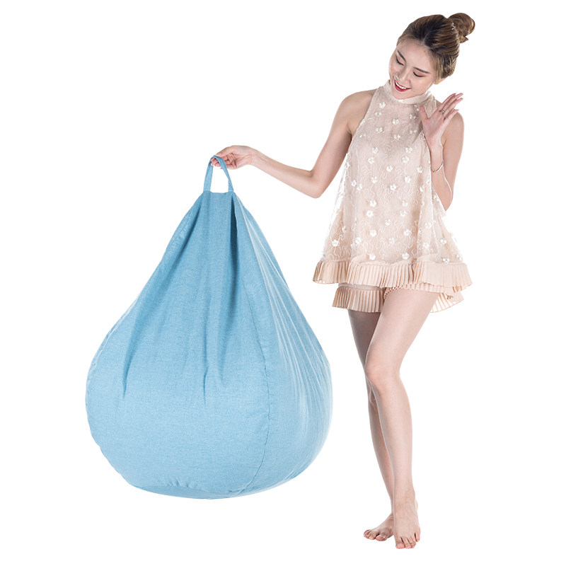 Home Bean Bag Cover Pouf Puff Couch Cotton Linen Cloth Lazy BeanBag Sofa Without Filling Single Seat Chair Kids Tatami Furniture