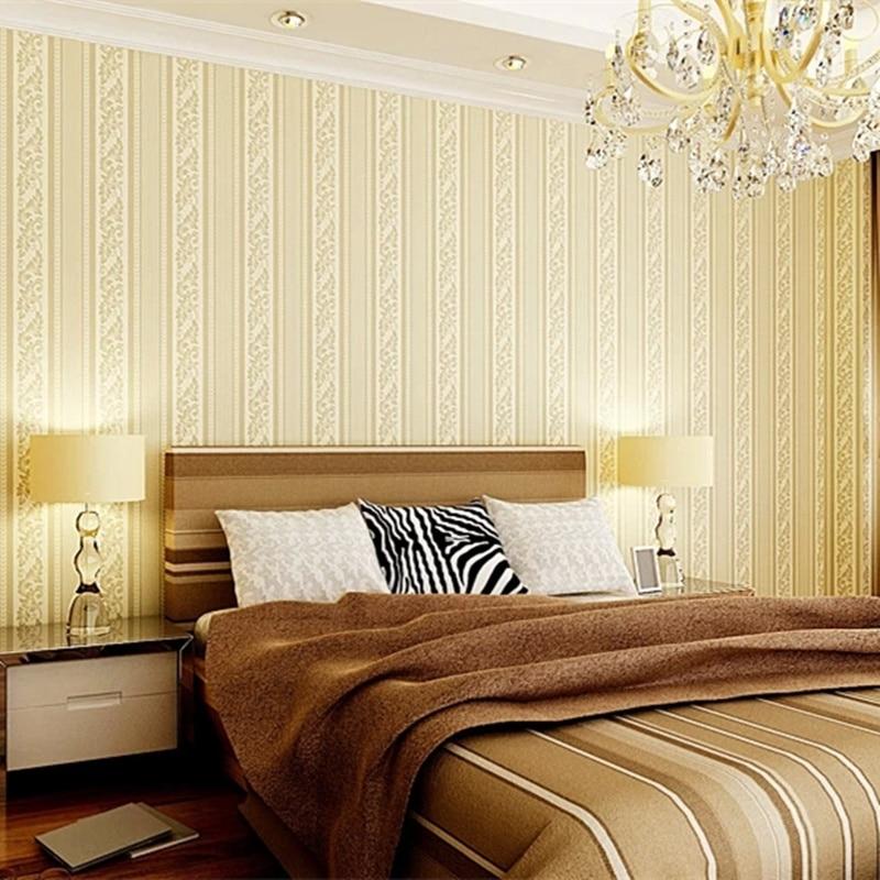 Amazing Aliexpress.com : Buy Free Shipping10049 For Bedroom Roman Stripe Style  Wallpaper Light Yellow Color Stripe Wallpaper Wall Paper Roll From Reliable  Wall ...