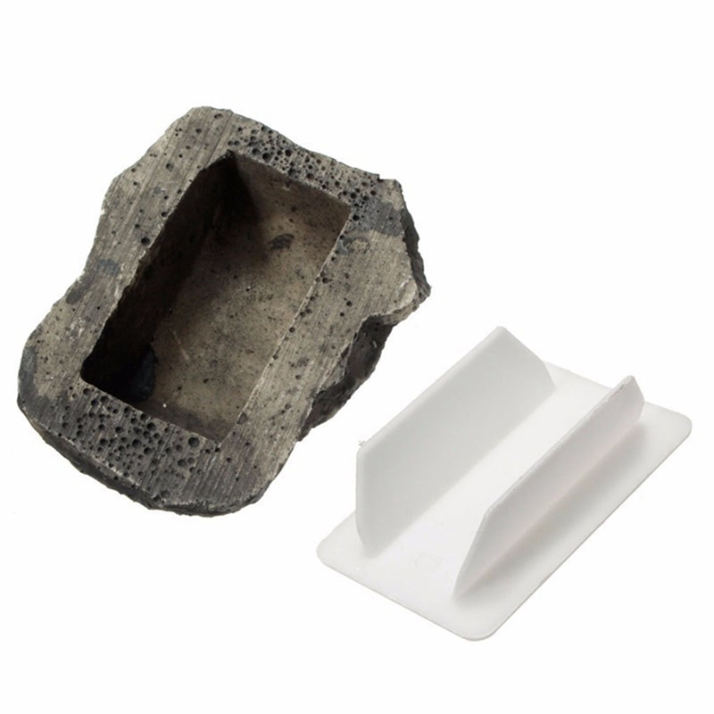 Fake Rock Holder Garden Ornament Hide In Stone Security Safe Storage 6x8x3cm Key Box Rock Organizer Door Case Box Hiding Outdoor