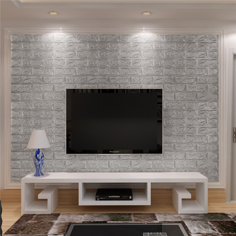 70cmX77cm Brick Pattern Decorative 3D Wall Sticker Wallpaper DIY Brick Living Room Kids Safty Bedroom Home Decor