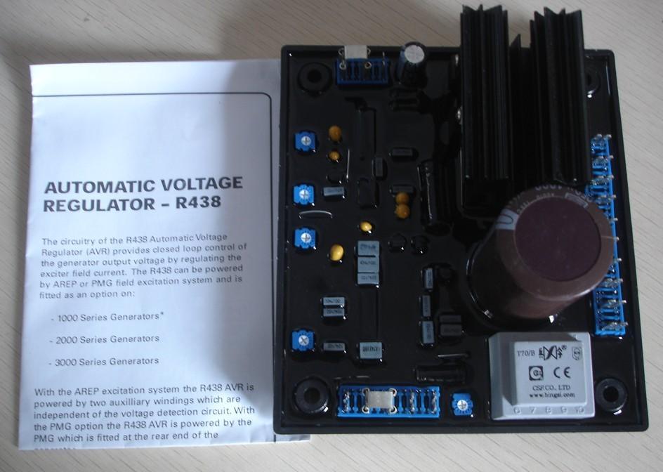 Avr R438 Generator Voltage Regulator Board (Free Shipping) free shipping 8 5kw 15kw avr gasoline generator automatic voltage regulator suit for other brand