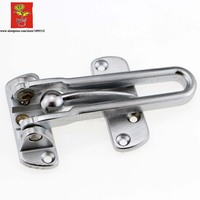 Zinc Alloy Stain Chrome Heavy Duty Door Guard Latch Swinging Bar Slide Bolt Entry Security Door