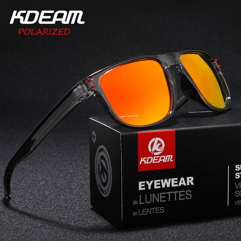 2018 Neue Polarisierte Sonnenbrille Männer Brillen Kdeam Marke Sonnenbrille Männer Design Fahren Spiegel Sonnenbrille Männlichen Schutz Auge 6790