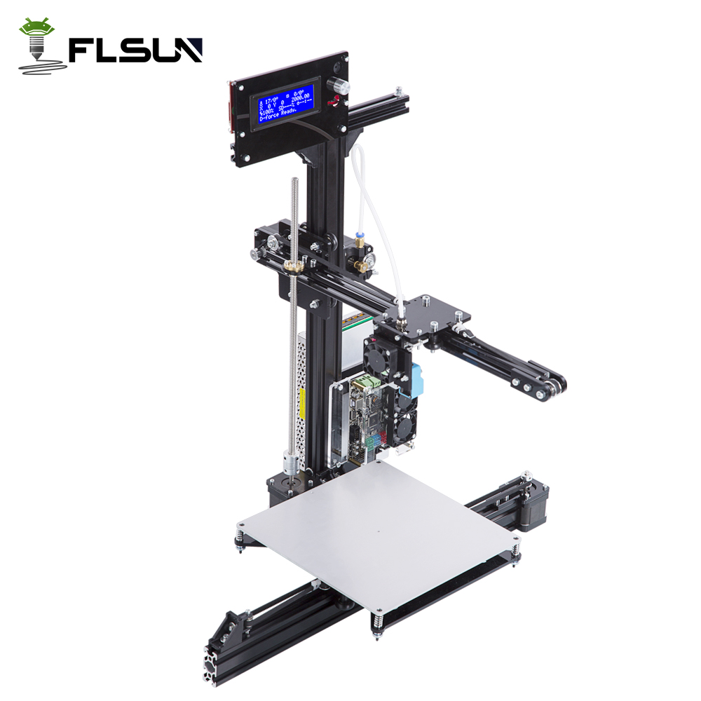 New Design Metal 3D Printer Large Printing Size 200*200*250mm DIY 3d Printer Kit Touch Screen With Two Rolls Filament SD Card все цены