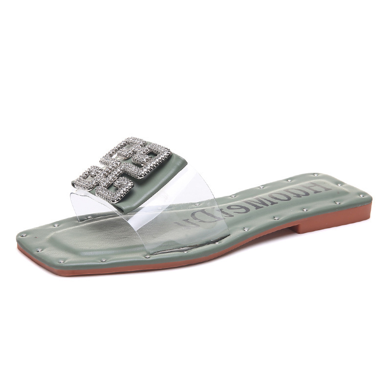 Summer Women Slippers 2019 New Fashion Leisure Slippers Comfortable Flats Female Slippers luxury Design Slides Metal DecorationSummer Women Slippers 2019 New Fashion Leisure Slippers Comfortable Flats Female Slippers luxury Design Slides Metal Decoration