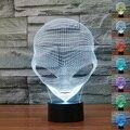 7-em Mudança Da Cor 3D Alien Glowing LED Toque Mesa de Luz Da Noite Quarto Lâmpada Decor