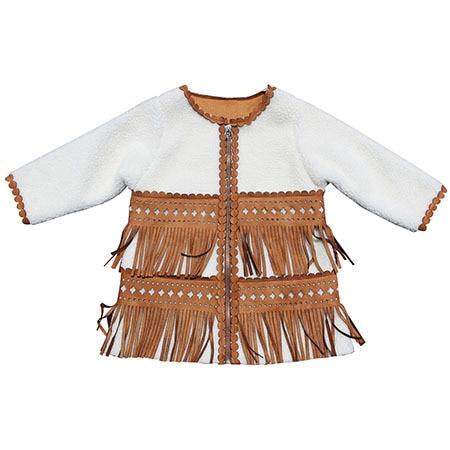 Girls coat New fashion Children Jacket Laser cutting Kids warm Jackets Autumn Winter Baby fur coat Clothing Outerwear