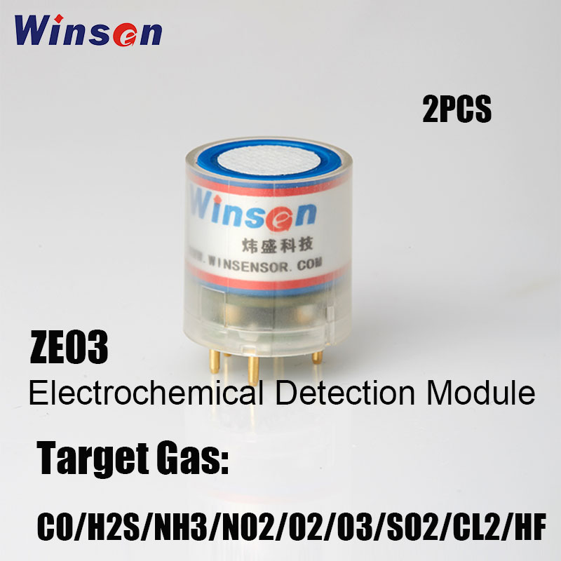 2PCS Winsen ZE03 Electrochemical Detection Module High Sensitivity Resolution UART and Analog Voltage Output Free Shipping