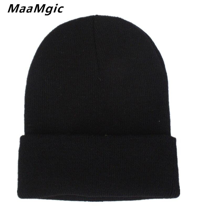 New Fashion Winter Hat Women Man Hat Skullies Beanies Unisex Warm Hat Knitted Cap Hats For Men Beanies Simple Warm Cap Soft Cap skullies