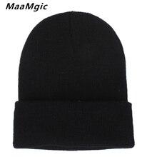 New Fashion Winter Hat Women Man Hat Skullies Beanies Unisex Warm Hat Knitted Cap Hats For Men Beanies Simple Warm Cap Soft Cap