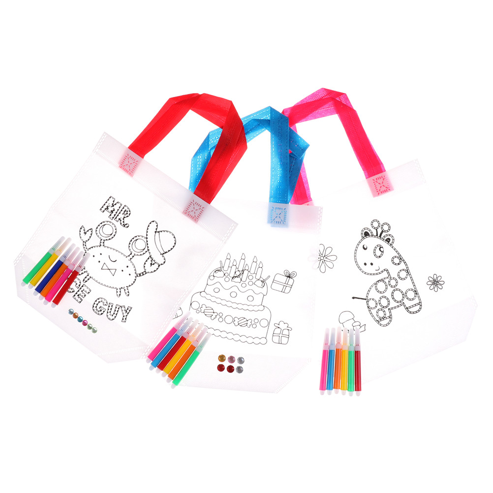 Learning Educational Drawing Toys with Safe Non-toxic Water Pen for Boy and Girl Gifts Kid DIY Drawing Craft Color Bag Children