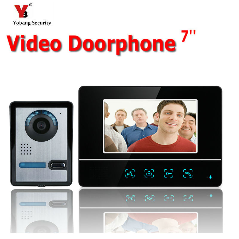 Yobang Security 7 LCD Video Door Phone Video Intercom Doorbell Home Security IR Camera Monitor With Night Vision camera hot sale tft monitor lcd color 7 inch video door phone doorbell home security door intercom with night vision