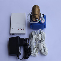 Russia/Ukrain Hot Sell Wired Water Leakage Detector with 1/2 Auto Stop Valve Water Leaking Detection Sensor Alarm for Home Use