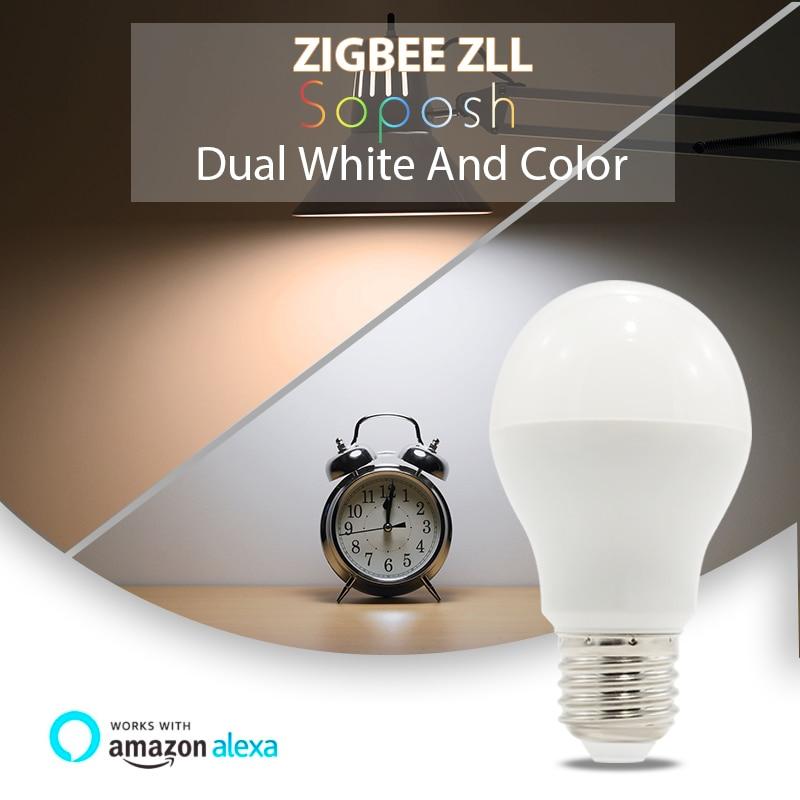 WASEDA lampe à LED ampoule ZIGBEE ZLL GU10 E27 E26 Dimbare RGBW RGBCCT 6 w 110 v 220 v 230 v lampe intelligente lampe App LED projecteur - 3