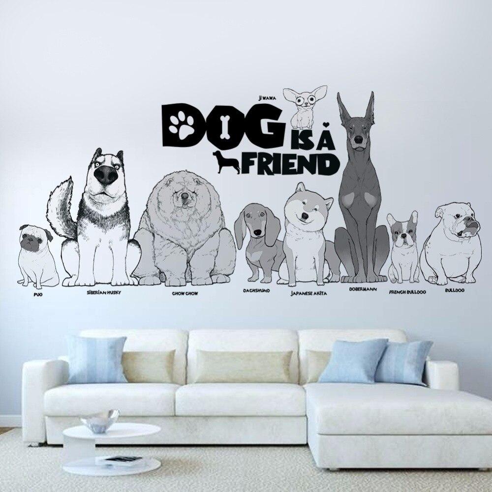 Hot Dog Garden Wall Sticker 30 90cm Wallpaper Bedroom Living