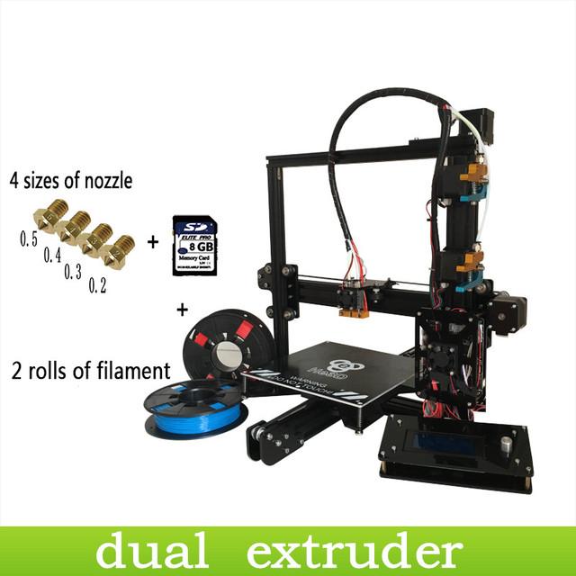 EI3 he3d dupla extrusora e3d bocal kit impressora 3d prusa i3 nível auto-multi material fialment apoio