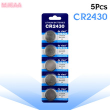 5pcs/pack CR2430 Button Batteries DL2430 BR2430 KL2430 Cell Coin Lithium Battery 3V CR 2430 For Watch Electronic Toy Remote