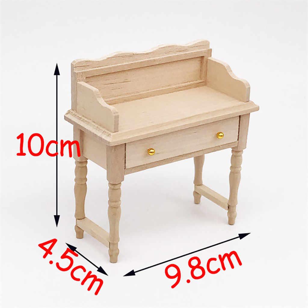 Кукла Аксессуары Поддельные Мини Миниатюрный стол для 1:12 деревянный кукольный домик фурнитура стола модельный набор детские игрушки подарок T9 #