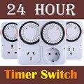 3 Estilos de 24 Horas de poupança de Energia Eléctrica-Timer Programável Interruptor Plug Tomada EUA REINO UNIDO EU Plug Alta Qualidade