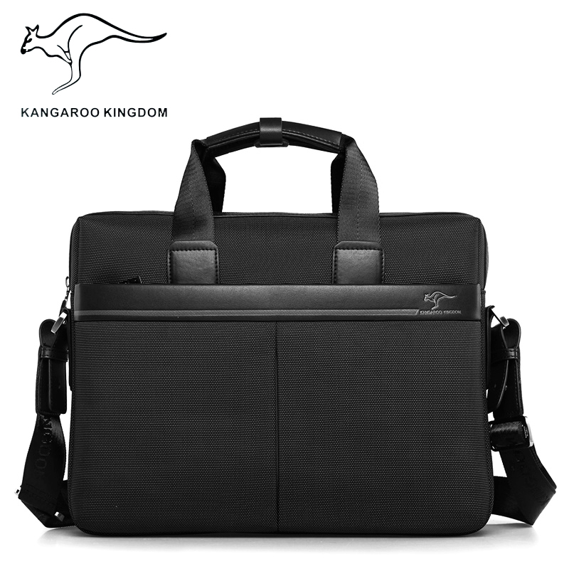 Kangaroo Kingdom Famous Brand Men Handbag Oxford Male Shoulder Messenger Bags Business Large Capacity Men Briefcase Laptop Bag fashion casual large capacity handbag for men shoulder bags male waterproof oxford fabric bussiness bag mochila high quality