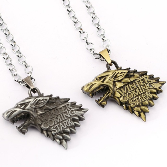 Game of Thrones Necklace Song of Ice and Fire Stark Targaryen Pendant Necklace Friendship Men Women Jewelry Choker Accessories