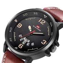 купить Top Brand Luxury Black Military Watch Men Leather Waterproof Sports Watches Business Fashion Quartz Wrist Watch Male Clock по цене 907.28 рублей