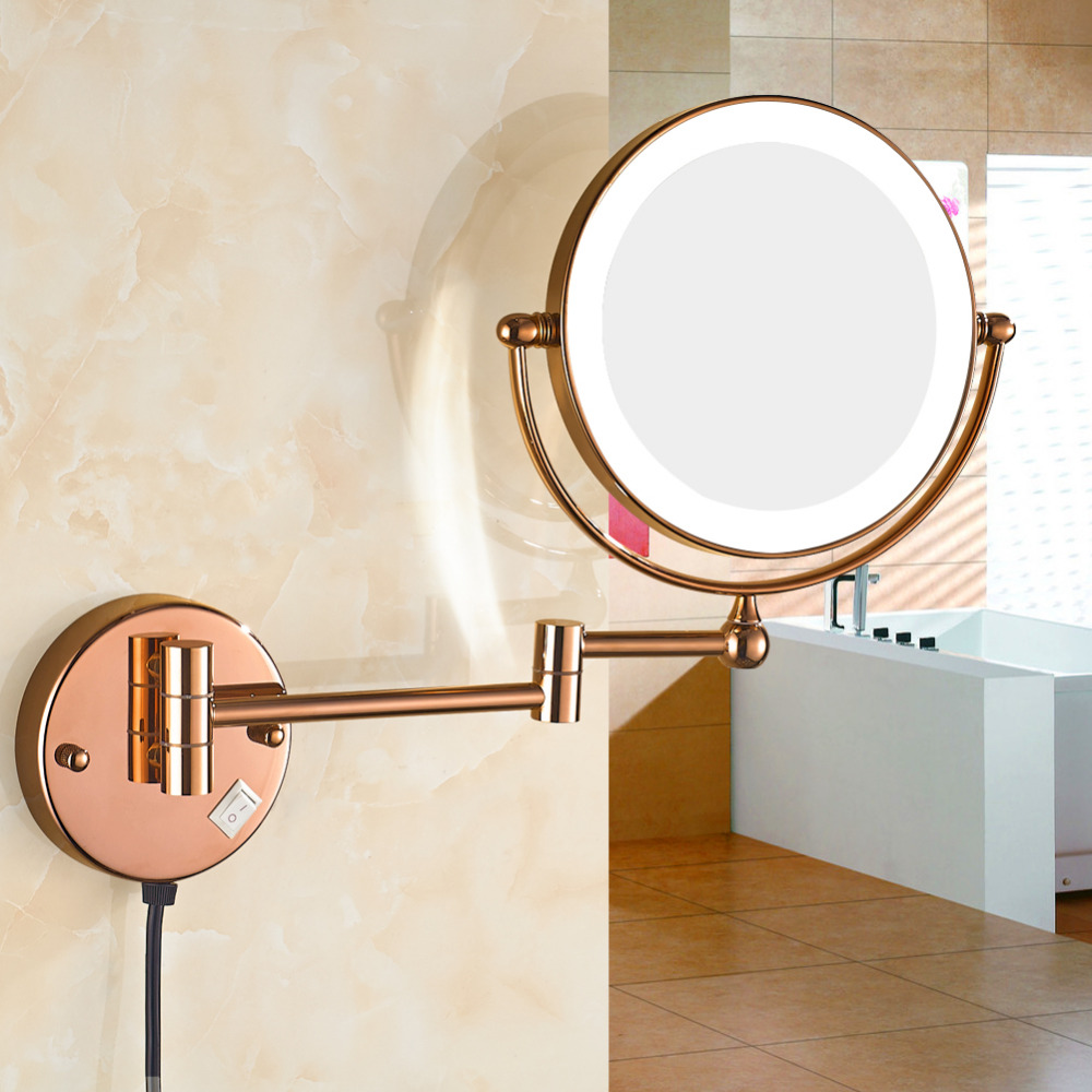 GuRun 7X Mirror 8 Inch magnifying mirrors for makeup Shave Bathroom Folding Wall Mounted Extend Doublr Side LED Mirror M1805DM босоножки tamaris tamaris ta171awacne2