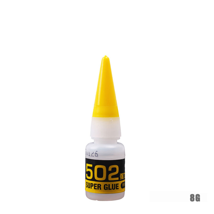 502 8g Super Glue Instant Quick Drying Cyanoacrylate Adhesive Strong Fast Leather Metal Office Stationery Liquid Glue