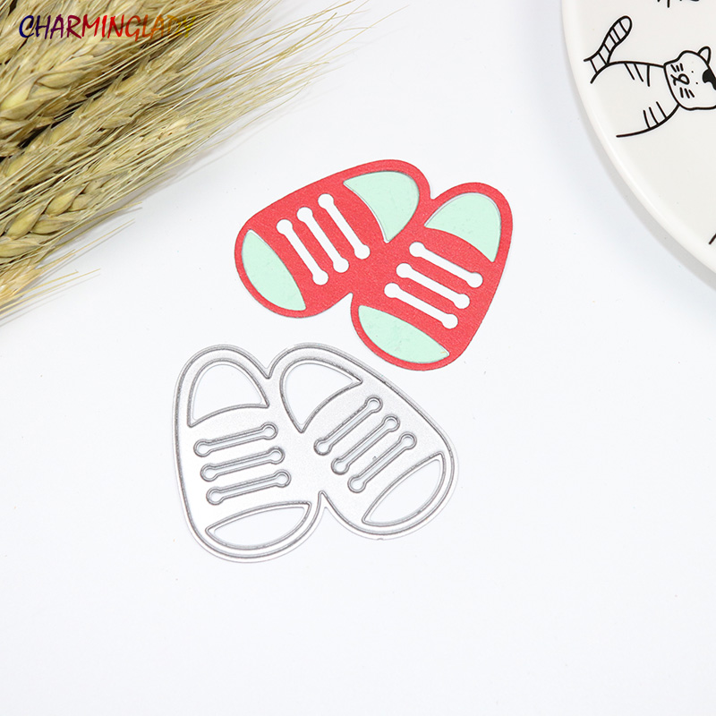 Детская обувь резки металла умирает Трафареты для DIY Скрапбукинг/фотоальбом декоративно ...