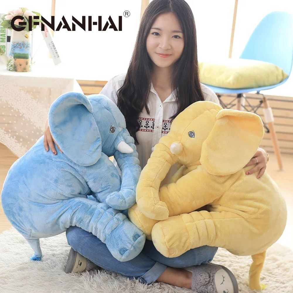 1pc 40/60cm Cartoon Big Size Plush Elephant Toy baby kids Sleeping Back Cushion Stuffed Pillow Elephant Doll for Birthday Gift 40 60cm elephant plush pillow infant soft for sleeping stuffed animals plush toys baby s playmate gifts for children wj346