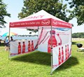 3x3m Decorative Awning Tent Top Printing