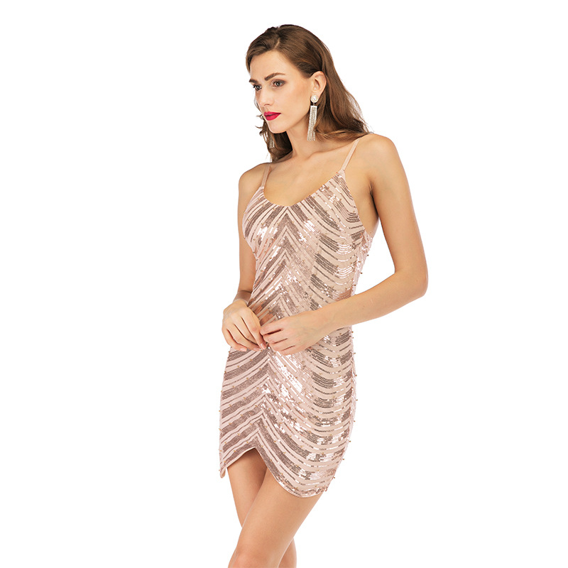 <font><b>Festival</b></font> <font><b>Queen</b></font> fashion feather sequins party dresses women halter backless <font><b>sexy</b></font> bodycon lady summer nightclub dress 2019 image