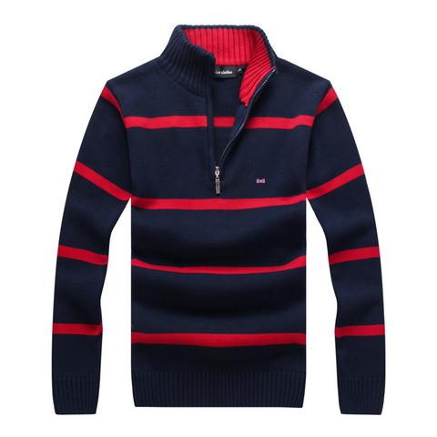 O envio gratuito de 2016 marca sweater Eden park, um homem de alta qualidade puro algodão listrado pullovers TAMANHO M-XXL
