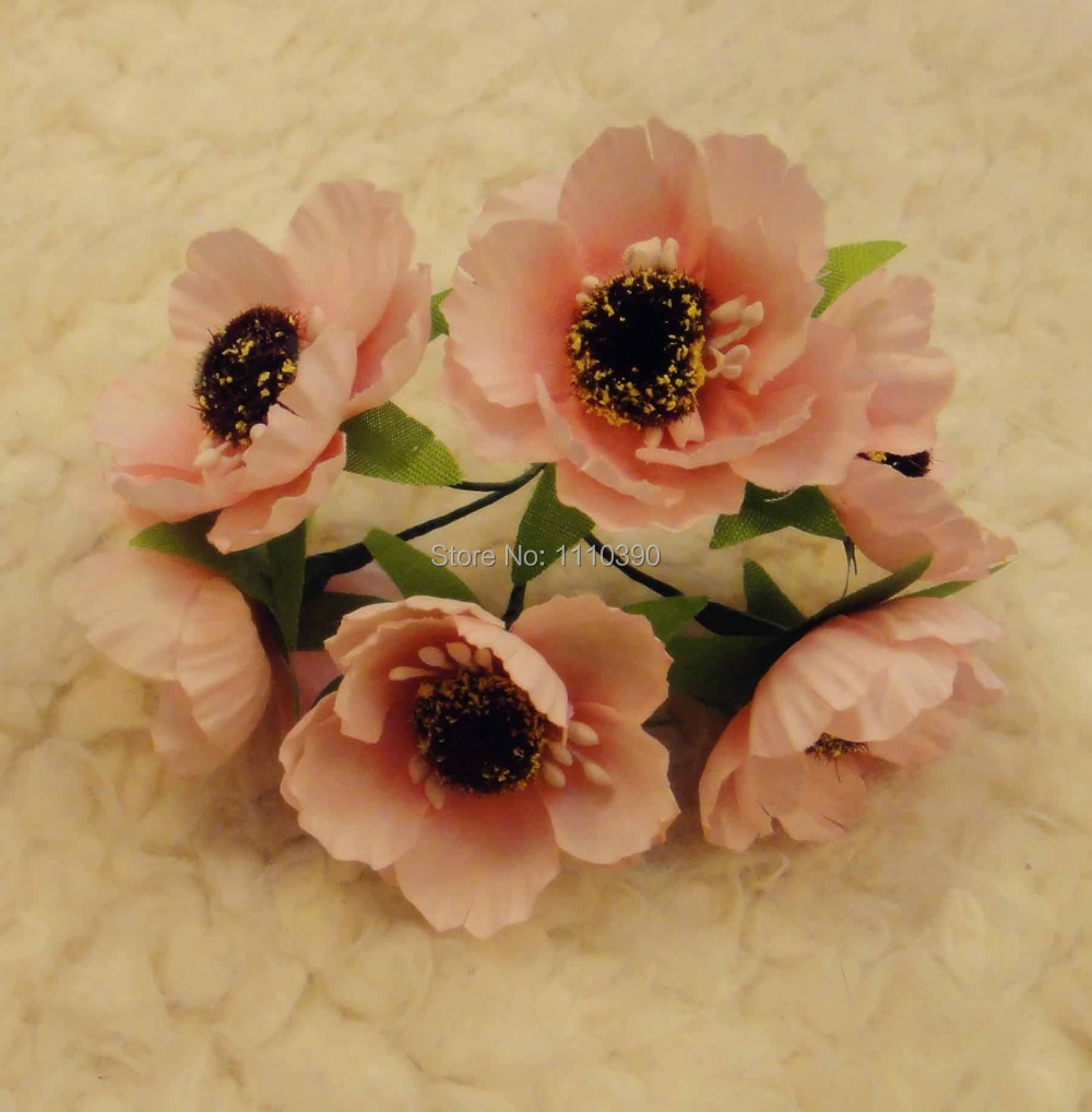Online Shop 3cm Silk Flowers Bouquetsartificial Peach Rosesblossom