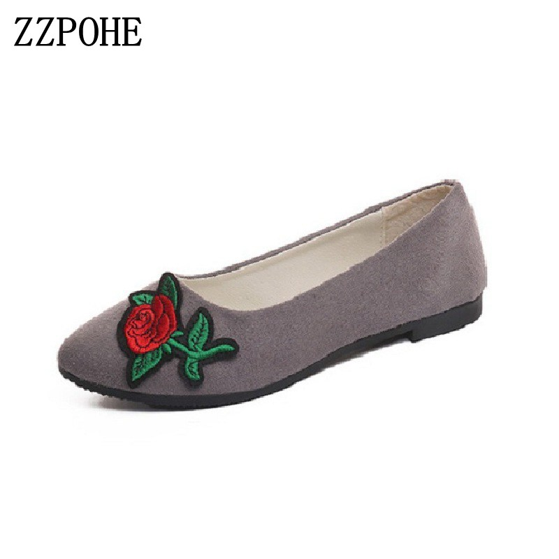 ZZPOHE Women Shoes 2017 Spring Autumn New Women Fashion Flats Shoes Pointed Toe Slip On Woman Driving shoes zzpohe spring autumn new women shoes fashion casual slip on pointed toe woman flats shoes female comfort work office shoes