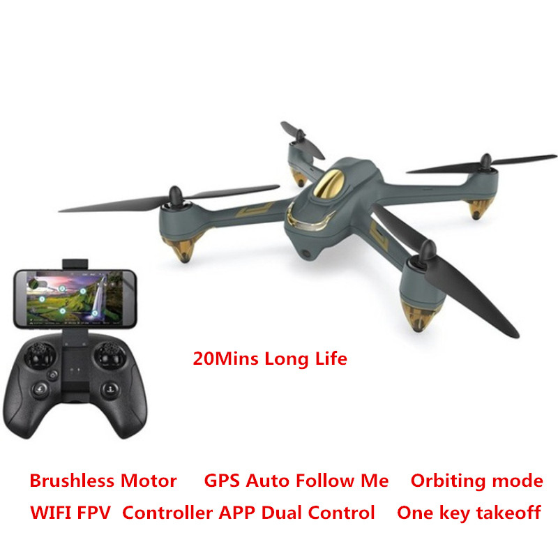 Dual Control Auto <font><b>Follow</b></font> Me 720P HD Camera <font><b>GPS</b></font> Quadcopter Waypoint WIFI FPV RC <font><b>drone</b></font> Brushless Altitude Hold <font><b>Drone</b></font> VS <font><b>X183</b></font> BZW image