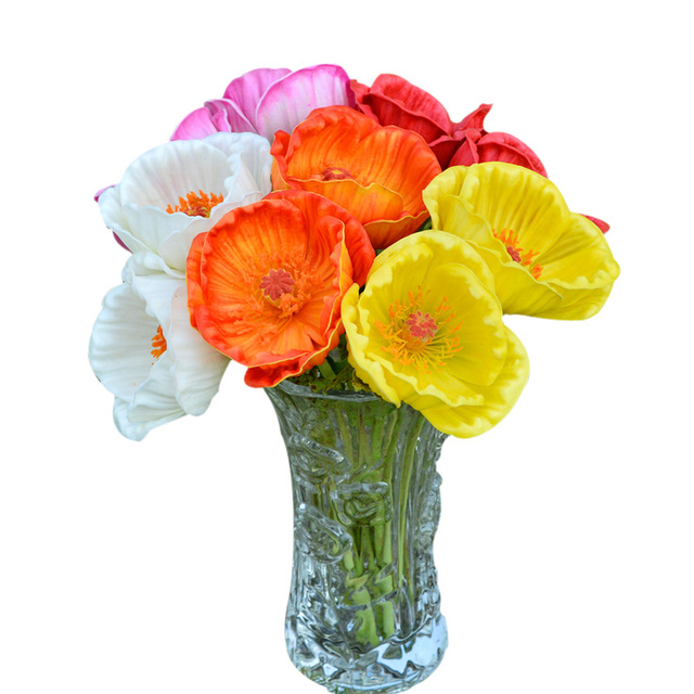Wedding artificial flower bridal bouquet 11corn poppy 5 head hot wedding artificial flower bridal bouquet 11corn poppy 5 head hot sale home decoration mightylinksfo