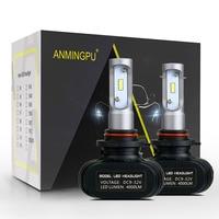 ANMINGPU 2 Pcs Fanless Car Headlight Super Bright Csp Chip H4 H7 Led H1 H11 HB3