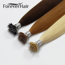 FOREVER HAIR 100% Real Remy Nano Ring Human Hair Extensions 1g/s 16