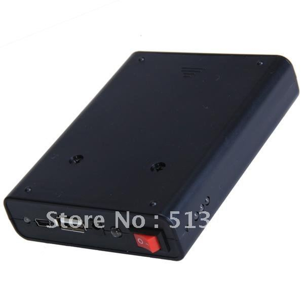 Free shipping,Universal 2A Black Mobile Power Supply USB Battery Charger 18650 Box for iphone,Cell phone,MP3,MP4