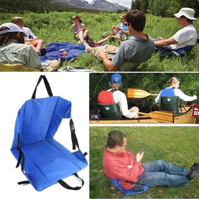 Outdoor Light Weight Portable Folding Chair Cushion Beach Grass Camping Hiking Fishing picnic