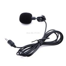 1 шт. мини Hands Free клип на лацкане микрофон для ПК ноутбук Skype 3,5 мм