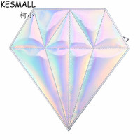 KESMALL Empty Makeup Holder Fashion 10Pcs Brushes Diamond Shape Make Up Bag Travel Organizer Waterproof Cosmetics