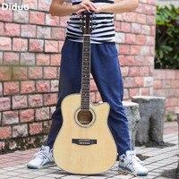 Diduo 41 Inch Folk Guitar Acoustic Guitar 6 Strings For Beginners Light Guitar Basswood Rosewood Fingerboard Musical Instruments
