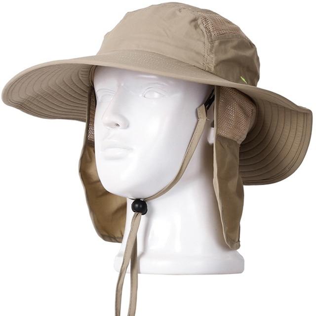 faf0e187c8c Outdoor Fishing Hiking Farming Quick Dry Sun Shield Hat Cap Men Women Sun  Protection Fisherman Bucket