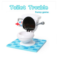 Party Family Funny Game Toy Toilet Trouble Practical Joke Game Plastic Electronic Spin Flush Toilet Stinkpot