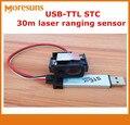Быстрая бесплатная доставка OEM USB-TTL STC 30m лазерный датчик/лазерный модуль  Промышленный Лазерный датчик